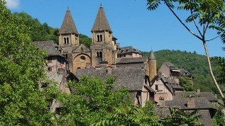 Conques, route du Puy-en-Velay